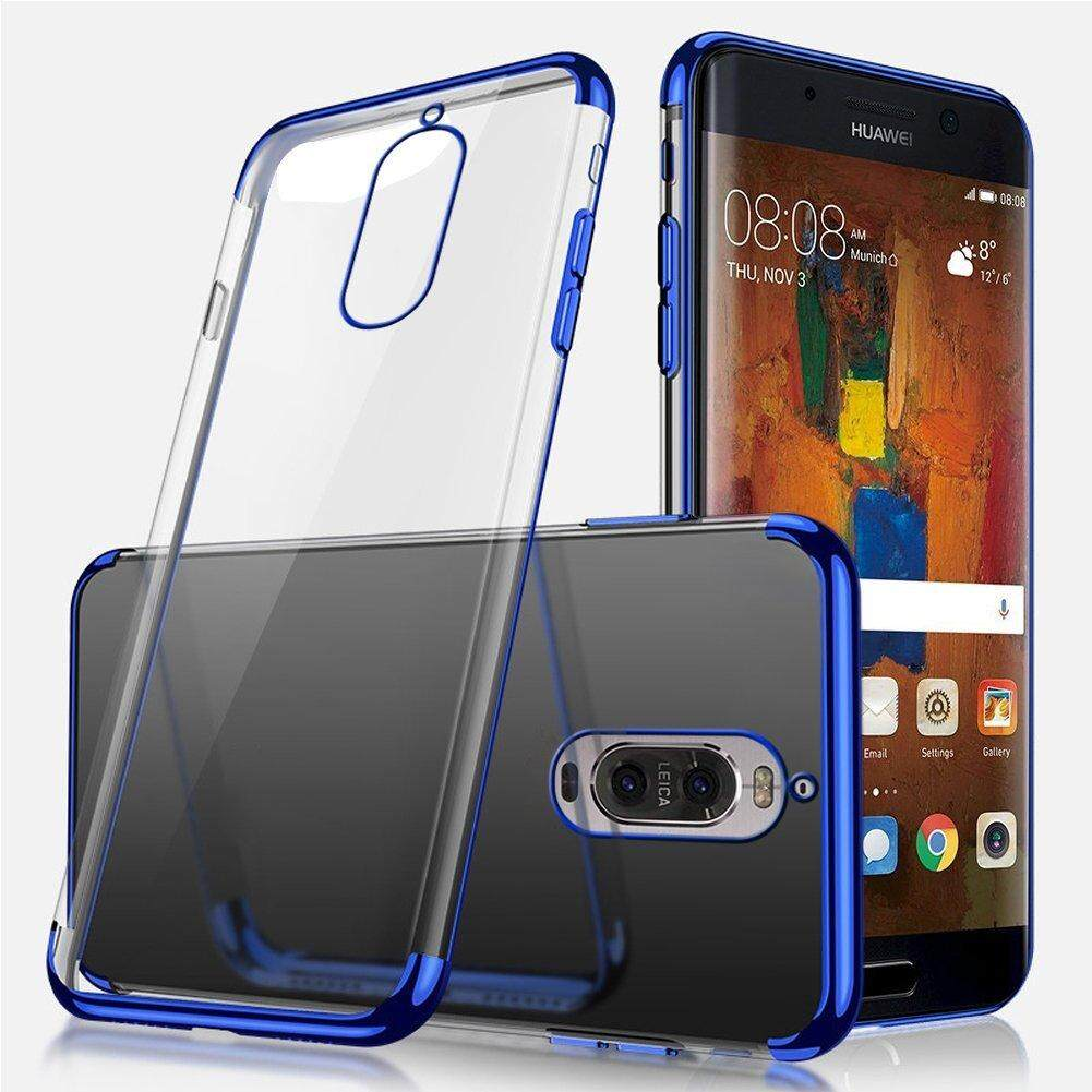 For Huawei Mate 9 Pro Silicone Soft TPU Ultra-thin Crystal Clear Plating Bumper Transparent