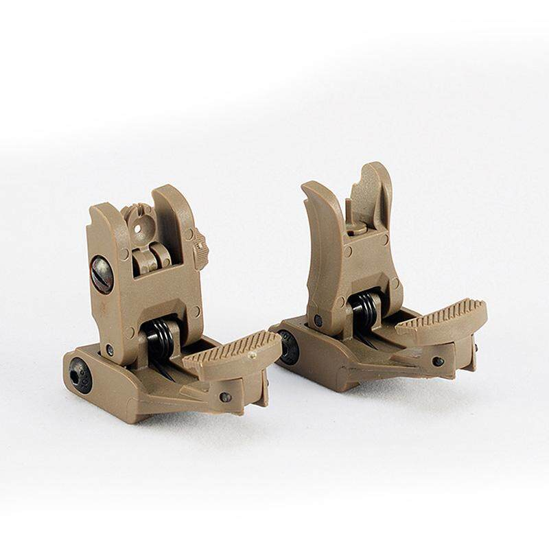 2 PCS Durable Front Rear Sight Rapid Offset Transition Backup Iron