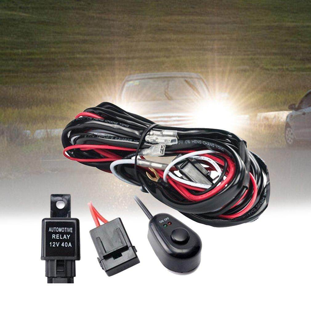 Features Led Hid Driving Wiring Harness Kit Fog Work Light Wire Set Detail Gambar With Switch Relay Terbaru