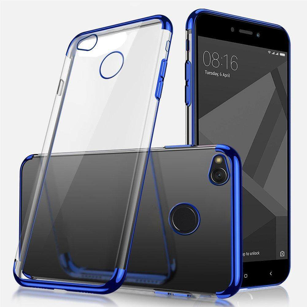 For Xiomi Hongmi 4X Ultra-thin Crystal Clear Shockproof Electroplating Transparent Bumper Soft TPU Cover