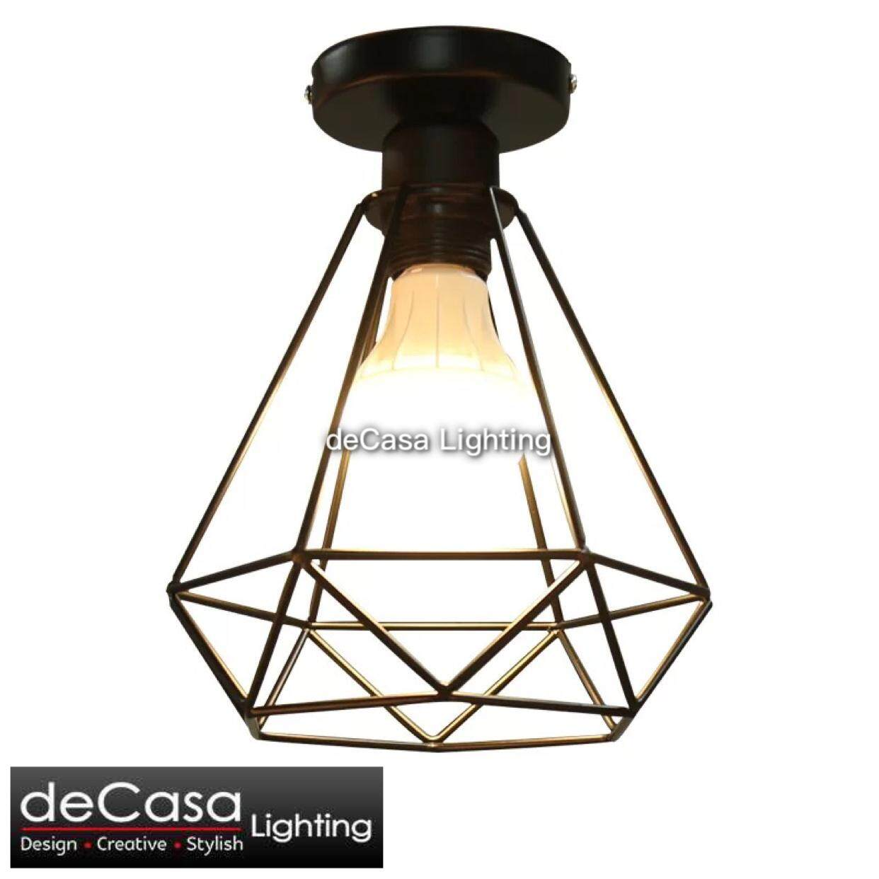 Ready Stock Black Loft Hanging Light Best Seller DECASA Pendant Light Ceiling Lamp Dream Light Decoration Table Lamp (JL-MJ04)