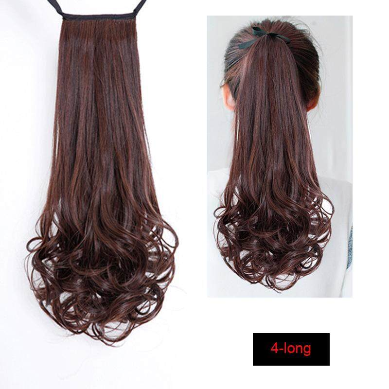 8cfd3e8fc Drawstring Curly Wig Ponytail Heat Resistant Hairpieces Natural Clip In Hair  Extensions - intl