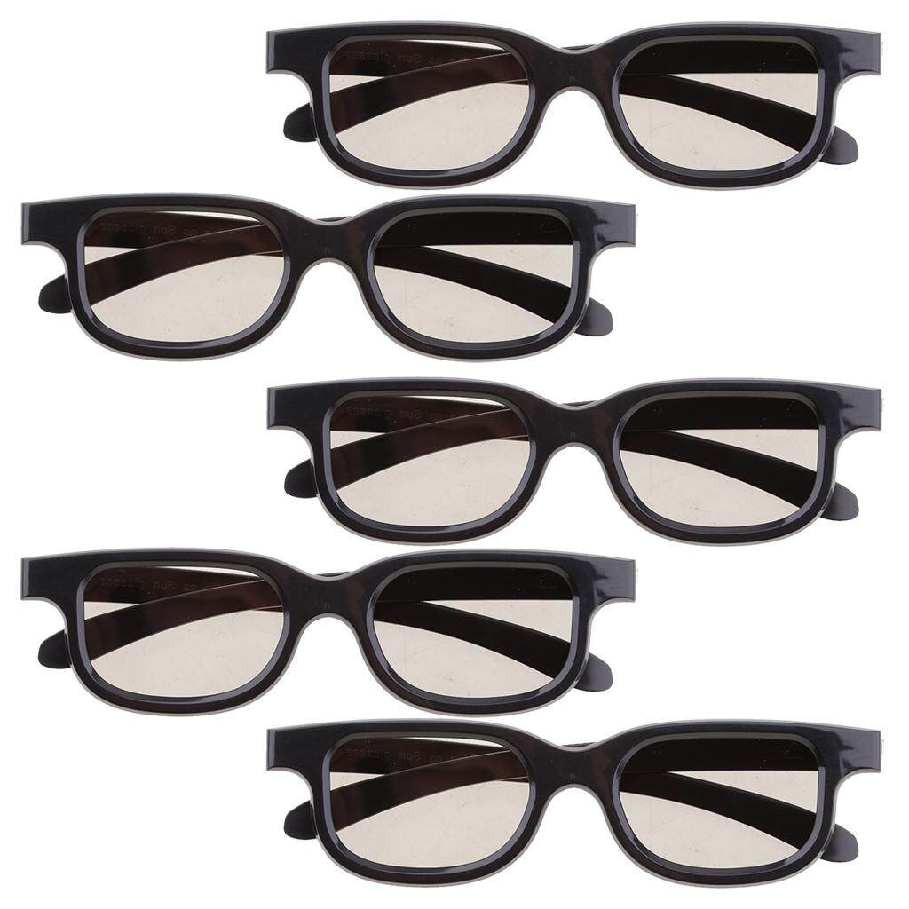 b49f571975 Miracle Shining Pack of 5 Universal Polarized 3D glass For Dimensional  Anaglyph Movie Black