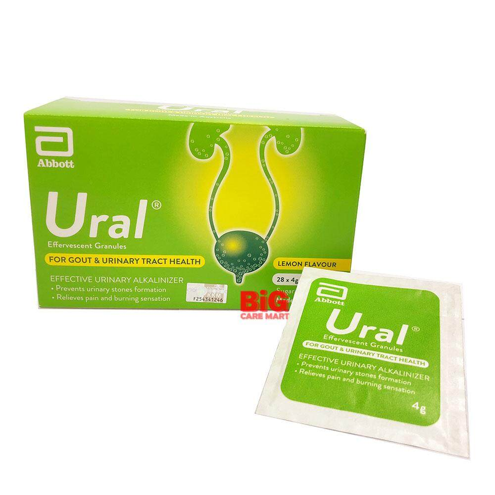 URAL EFFERVESCENT GRANULES 4G 28 sachets (for GOUT / URINE PAIN)