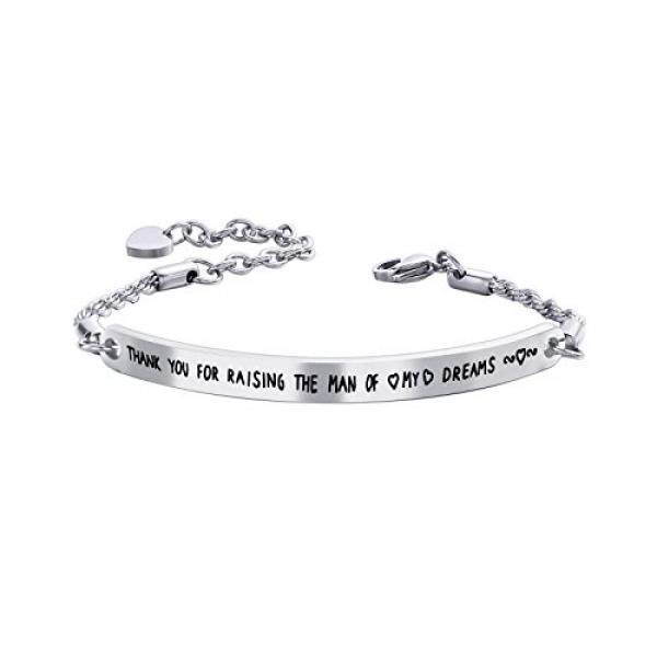 f3d6cb70957bf Sunflower Jewellery Cuff bracelet Thank You for Raising The Man Of My Dream  Charm Bangle For women Mother - intl
