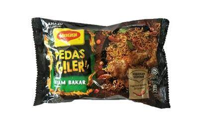 Maggi Pedas Giler Ayam Bakar Pack 76g