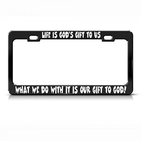 Hidup Adalah Dewa Hadiah untuk Kami Apa Yang Kita Lakukan dengan Itu Hitam Logam Plat Nomor Frame/dari Amerika Serikat