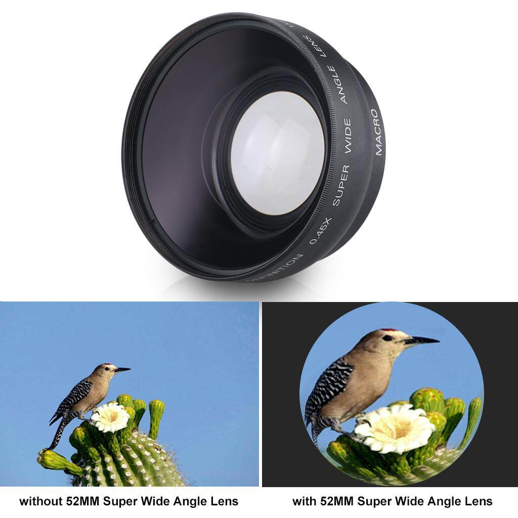 52mm 0.45X Digital Film Coated Wide-angle Lens for Canon Rebel T5i T3i XTi