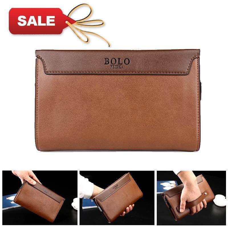JOHNN New Male clutch Fashion Men Long section Single zipper Clutch Boutique With lock wallet