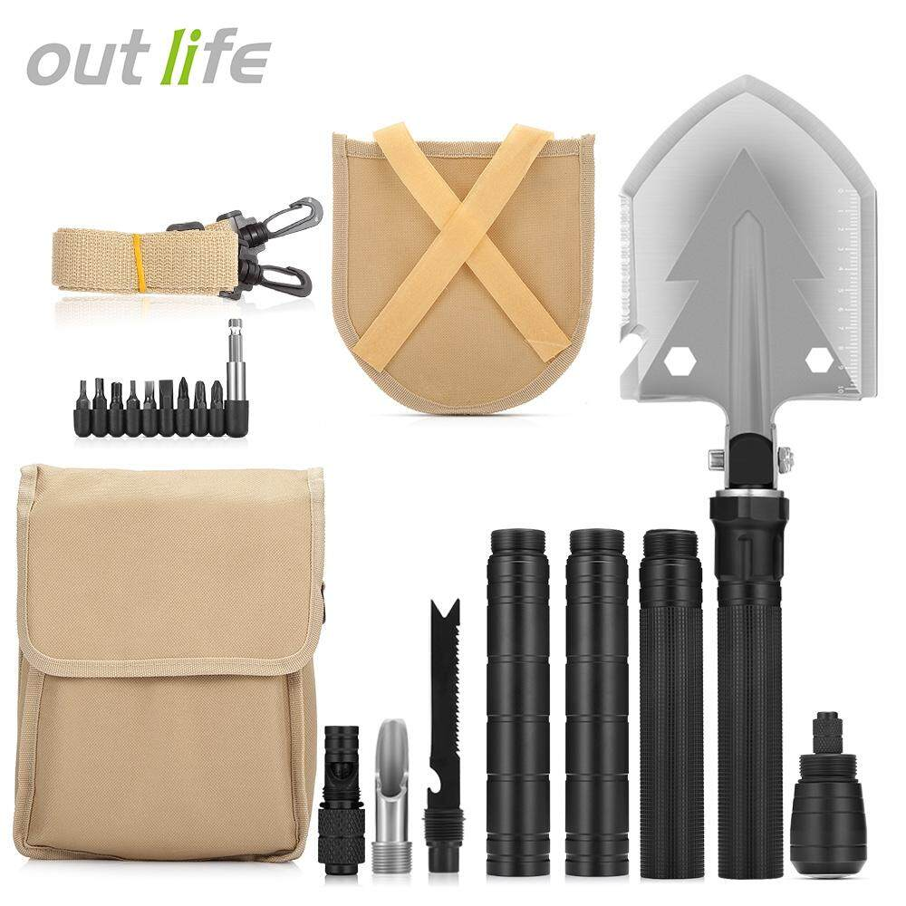 Outlife Military Folding Shovel With Carrying Bag Army Multi-Tools For Camping By Yinte.