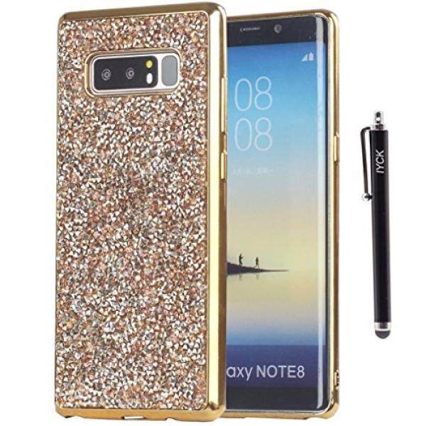Smartphone Case S Case S Iyck Galaxy Note 8 Case, CATATAN 8 Case, iyck Mewah 3D Buatan Tangan Dilapisi TPU Lentur Halus Berlian Imitasi Kristal Bling Glitter Pelindung Casing Belakang Cover untuk Samsung Galaxy Note 8-Champagne Emas- internasional