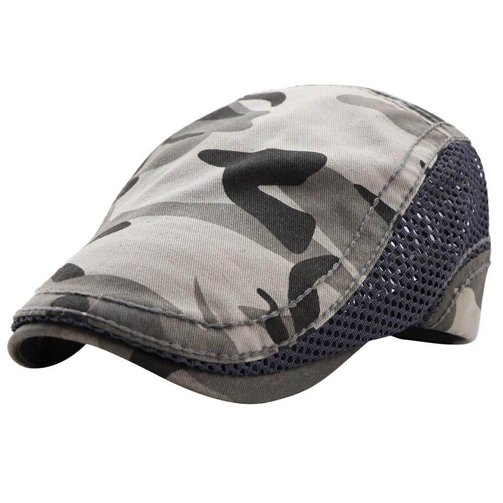Men's Women Camouflage Network Cap Hats Casual Hat Hip Hop Berets Unisex Fashion