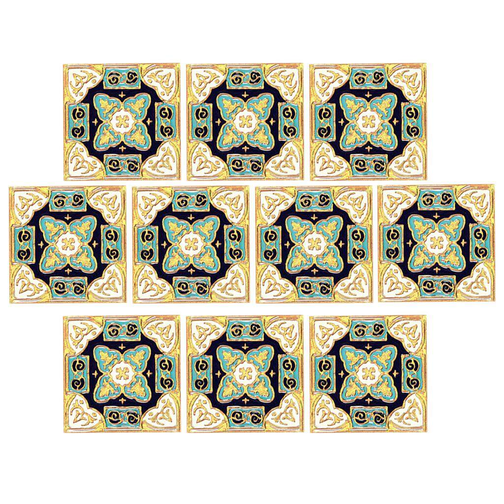 Bolehdeals 3 Floor Sticker Tile Decal Pvc Vinyl Sticker Mural For Kitchen Bathroom 10-Set By Bolehdeals.