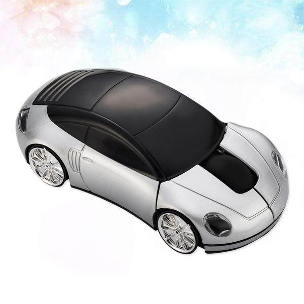 2.4 GHz 3D Bentuk Mobil Nirkabel Mouse Optik USB Mouse Gaming Tanpa Baterai untuk PC Laptop ...