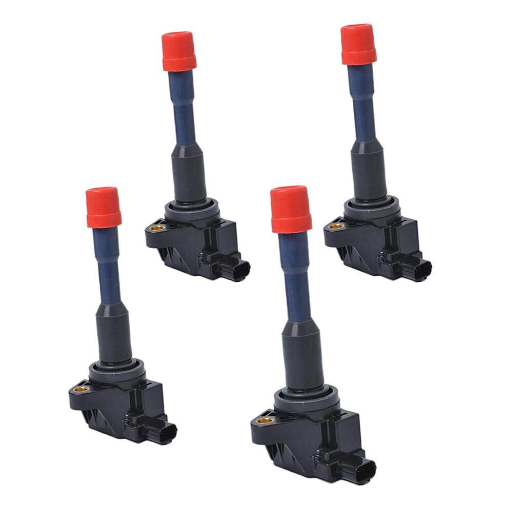 Miracle Shining 4 Pieces Replacement Ignition Coil For Honda Civic Jazz Sedan City Saloon