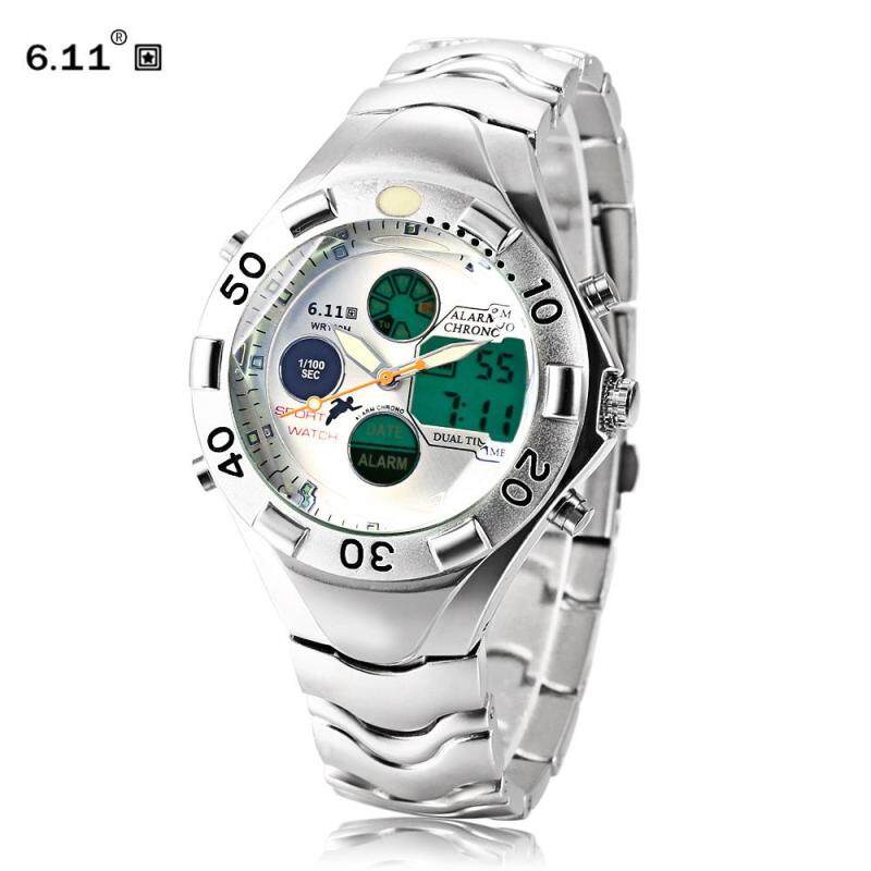 BCYN 6.11 898 Male Dual Movt Watch Chronograph Alarm Men Wristwatch (White) Malaysia