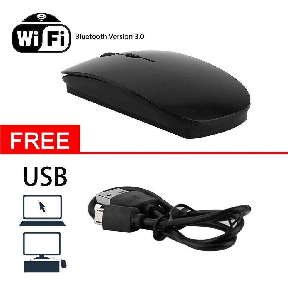 Gift Portable Rechargeable Bluetooth 3.0 Wireless Mouse For Laptop PC Tablets - intl