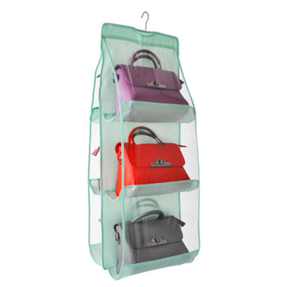 Hastra Hanging Handbag Organizer Dust-Proof Storage Holder Bag Wardrobe Closet for Purse Clutch with 6 Larger Pockets