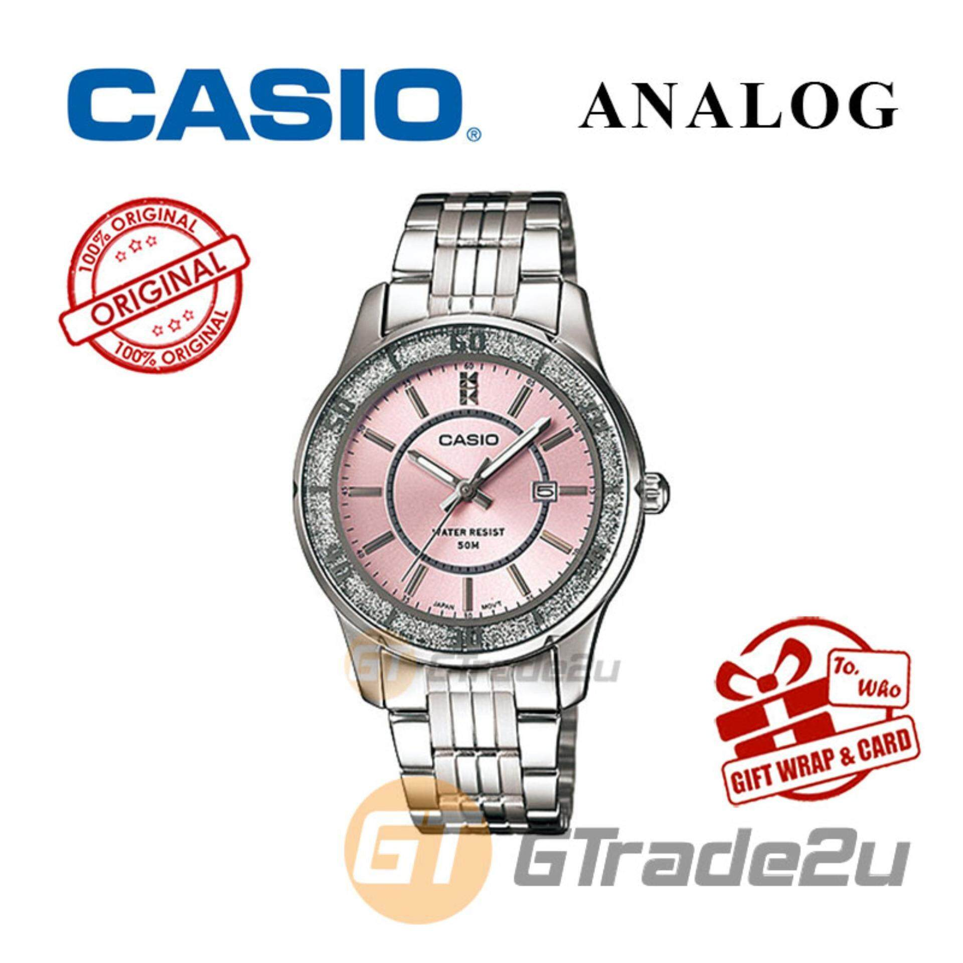 Fitur Casio Ltp 1359d 4av Standard Analog Womens Watch Date Wr50m 1314d 5a Pink 1358d Ladies Lame Sprinkled