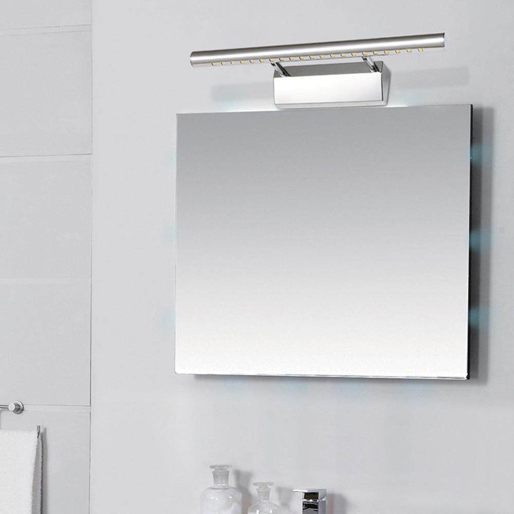 Highlight Indoor Stainless Steel Wall Lamps Bathroom Mirror Light Cabinet Lights with Two Optional Lighting Colors - intl