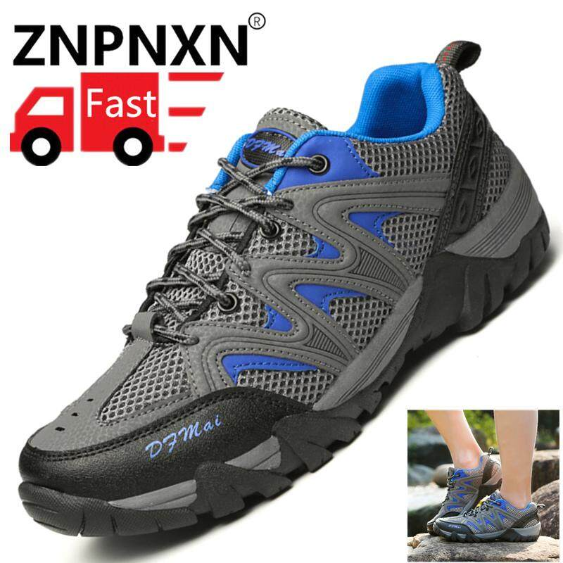 ZNPNXN Men'a Hiking Shoes Outdoor Mesh Breathable Shoes Men's Hiking Boots Safety Work Shoes Size 39-46