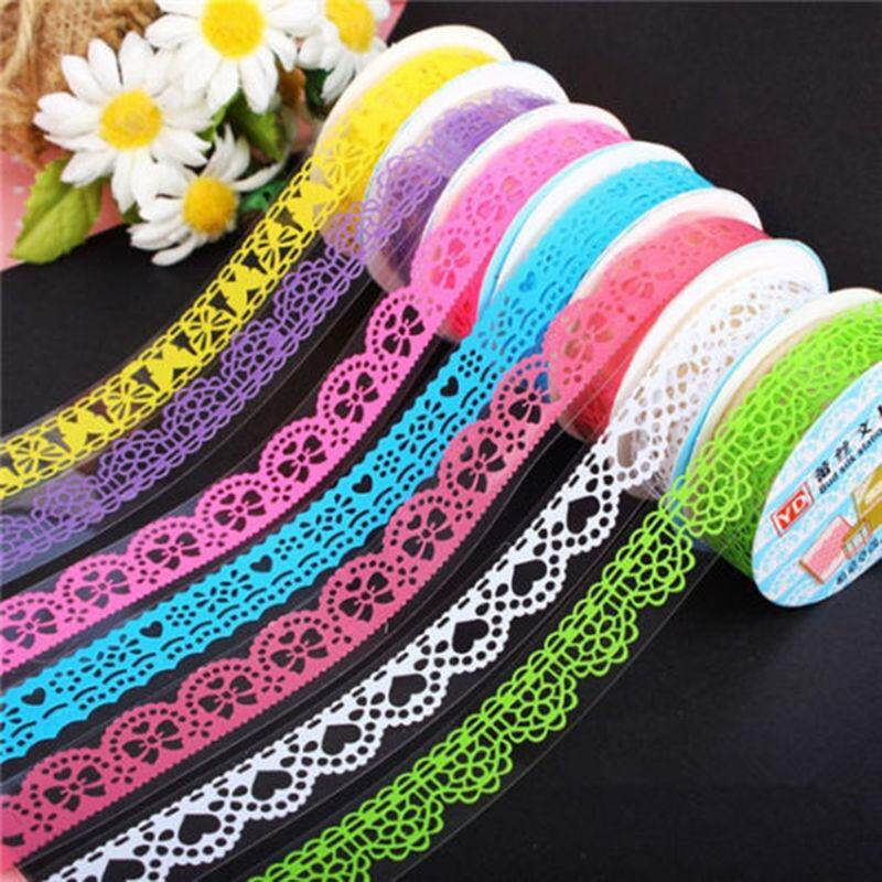 Mua 5rolls Lace Sticky Paper SELF Adhesive Washi Tape Sticker Scrapbooking Decorative DIY - intl