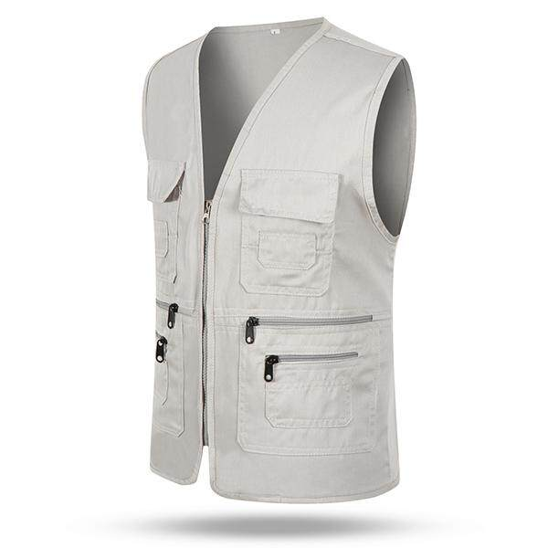 Multi Pocket Vest eBay Source · Outdoor Casual Fishing Multi Pockets V Neck Cargo Volunteer Vest