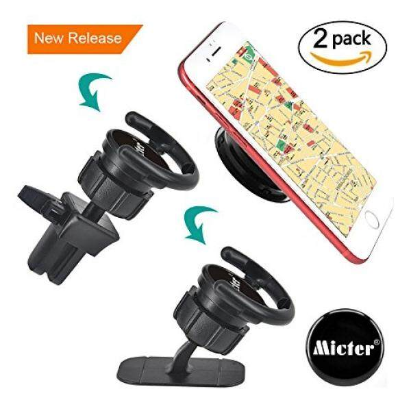 Car Mount for Pop Socket,Air Vent Clip Cell Phone Holder for Phone Popsocket and Grips with Lock Setting,Black Car Dashboard Desk Wall Mount Stand for IPhone X 8 Plus 7 Plus 6s 6 5s 5 4s 4 Samsung - intl