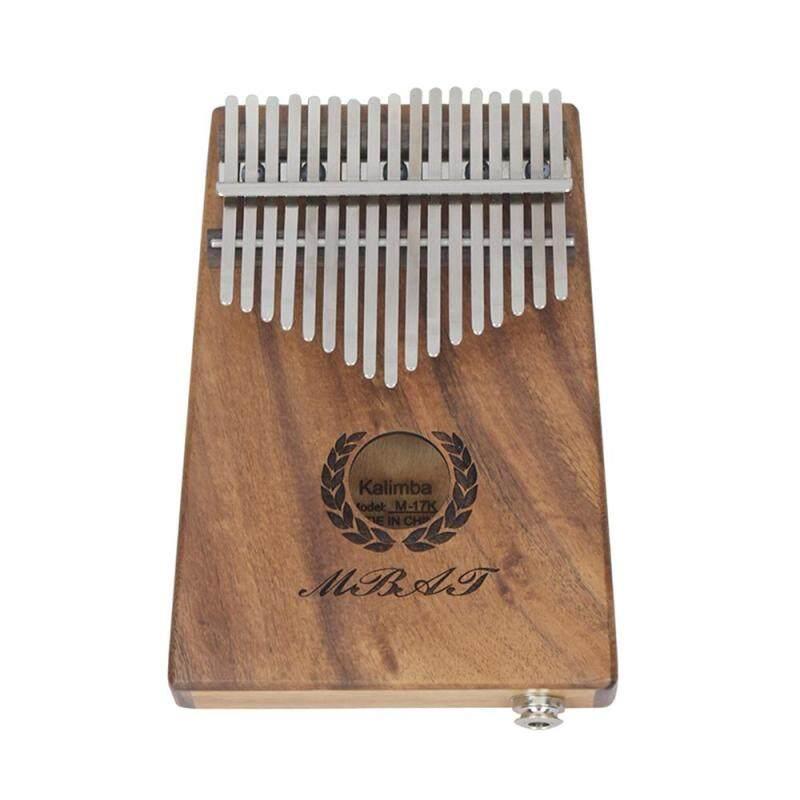 Portable 17-key Kalimba Thumb Piano Mbira Hawaiian Koa Wood Built-in Pickup EQ With 6.35mm Speaker Interface Musical Gift Malaysia