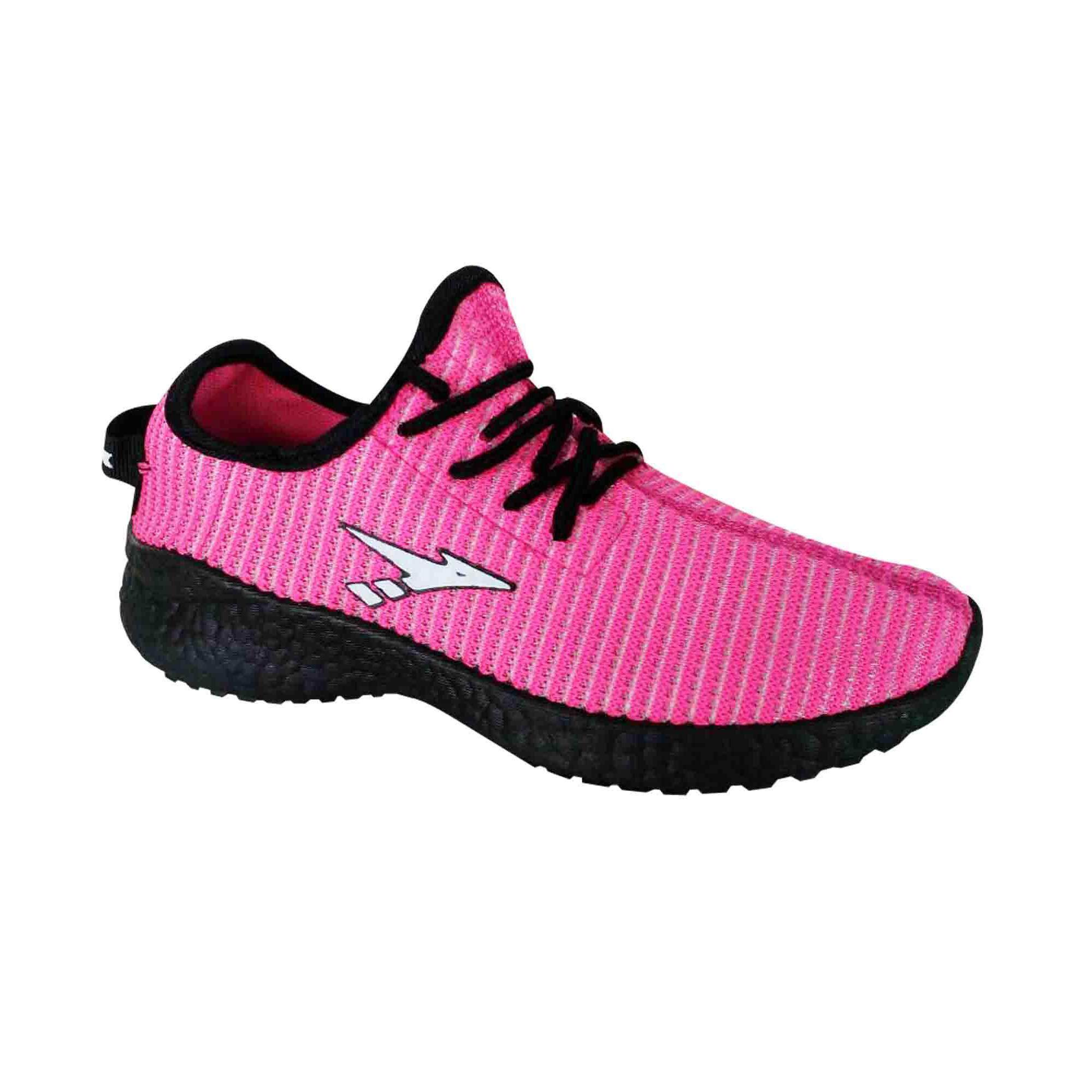 Amsdex Racer Sneakers for Women - Pink/Black