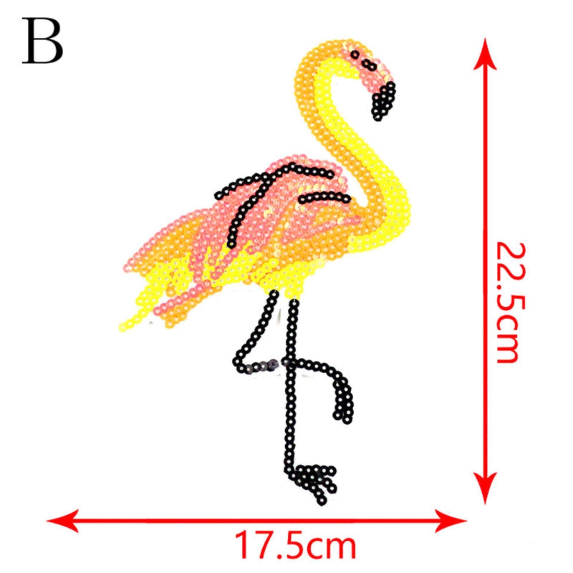 ... Blus Pesta Source · Sweater T shirt Paillette Aplikasi Bordir Flamingo Payet Patch Menjahit Pada Jenis B