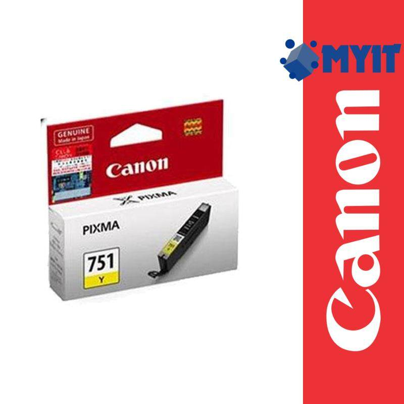 Canon Original CLI-751 Yellow Color Ink Cartridge for MG5470 MG6370 iP7270 MX727 CL-751 CL751