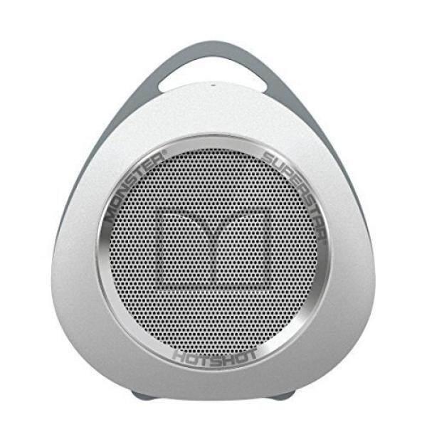 Monster SuperStar HotShot Portable Bluetooth Speaker, White/Chrome / From USA