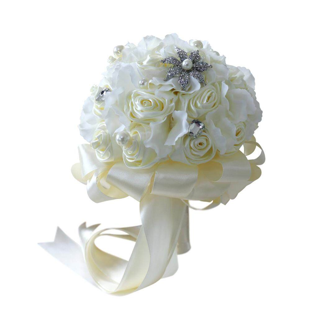 GuangquanStrade Romantic Roses Artificial Flower Wedding Bride Bride Bouquet Holding Flowers