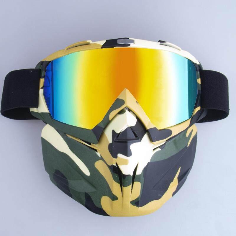 Xi Ski Pria Wanita Mobil Salju Seluncur Salju Kacamata Salju Musim Dingin Ski Tahan Angin Kacamata dengan Masker Warna Bingkai: Rangka Zebra-Merah