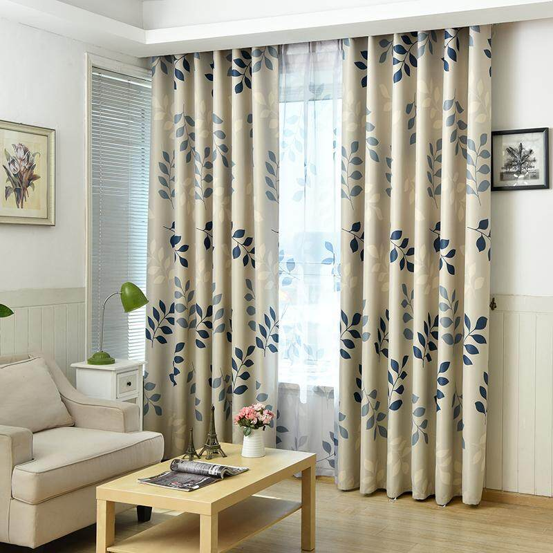 [OrangeHome] 150*250 CM (1 pc) Blackout Curtain Drape Ring/Eyelet/Punch Window Room Bedroom Balcony Blue A01-SY - intl