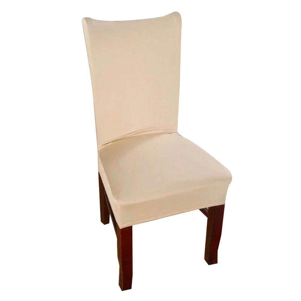 AOJBTENG 1 Piece 8 Solid Colors Polyester Spandex Dining Chair Covers For Wedding Party Chair Cover Stretch Dining Room Chair Slipcovers - intl