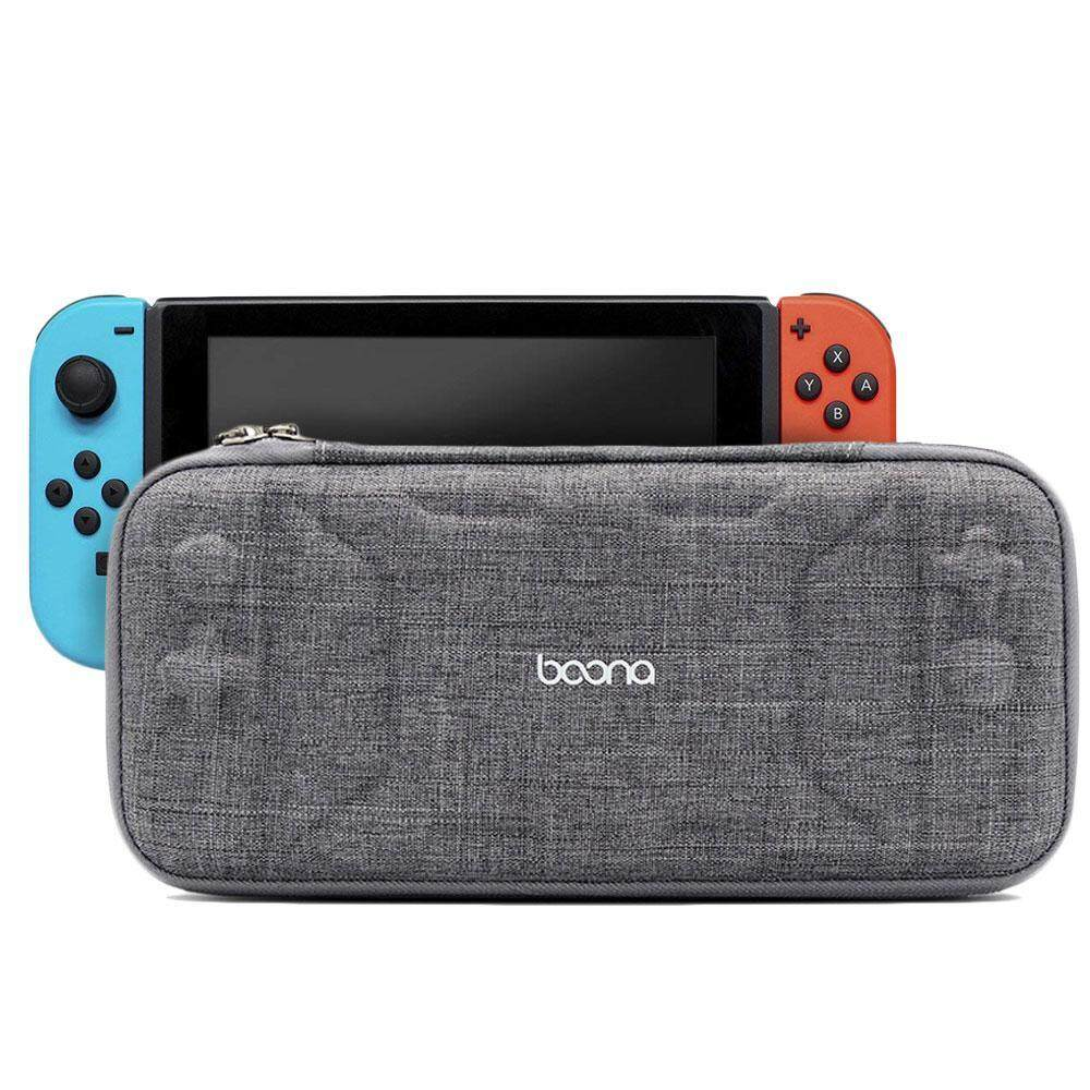 Niceeshop Slim Eva Travel Carrying Case For Nintendo Switch - Protective Storage Bag With 8 Game Holders By Nicee Shop.