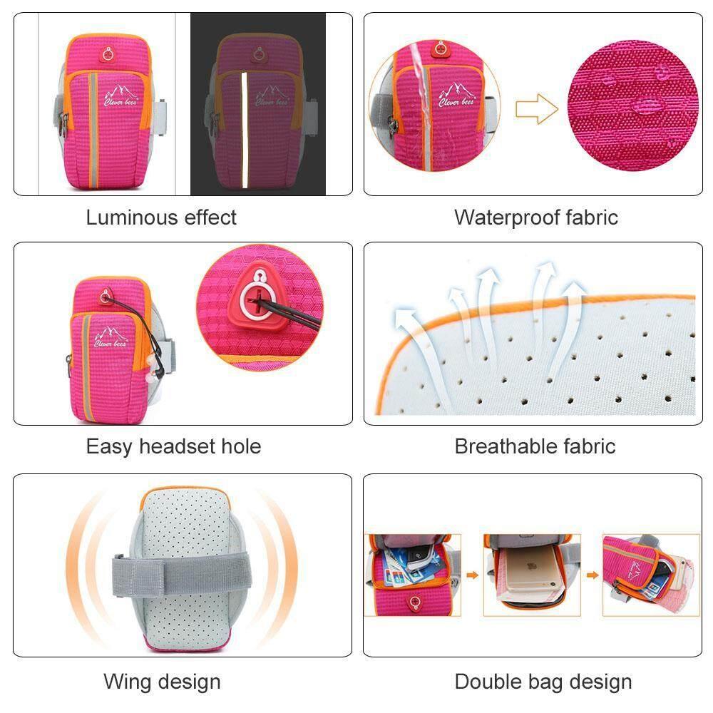 ... Kantong Ganda Multifungsi Outdoor Tempat HP Di Lengan Umum Smartphone Tas  Tangan Tahan Air Colokan Headphone ... 172bd2c7a2
