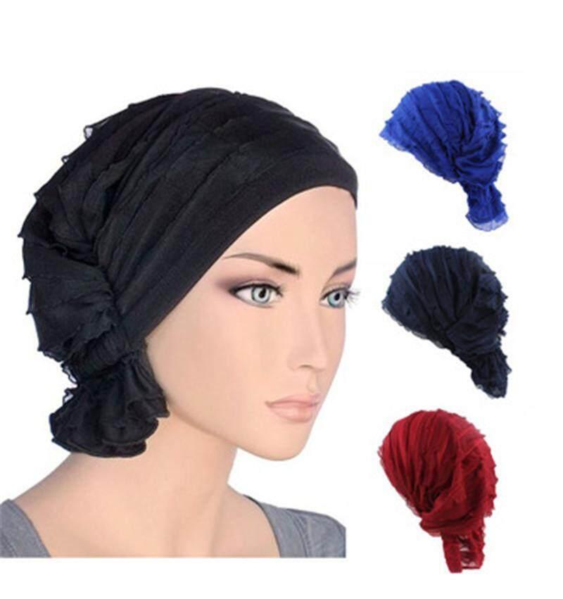 ผู้หญิงมุสลิมยึดโพกหมวกเคมีบำบัดหมวกผมใส่ผ้าคลุมศีรษะหมวกฮิญาบ - Intl By Gebistore.