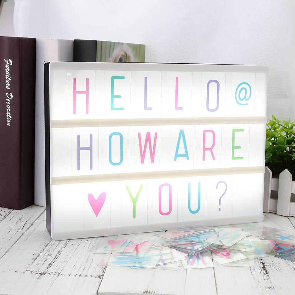 Kurry 85pcs Replacement A4 Light Up Box Letters Cards Sign LED Cinematic Gift - intl Singapore