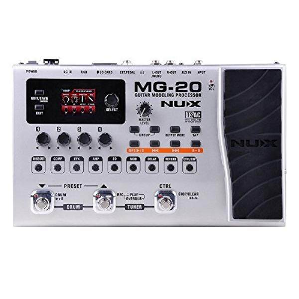 NUX MG-20 Electric Guitar Multi-effects Processor with Drum machine Looper Function Expression pedal Metal Shell - intl