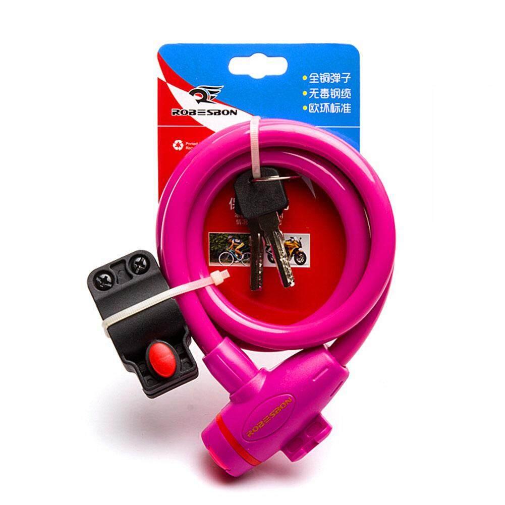 LumiParty Bike Steel Wire Safety Lock Theftproof Motorbike Lock Anti-Theft Security Supplies