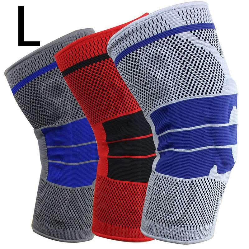 Lagobuy M-XL Honeycomb Pad Crashproof Antislip Leg Knee Long Sleeve Guard Sports Basketball