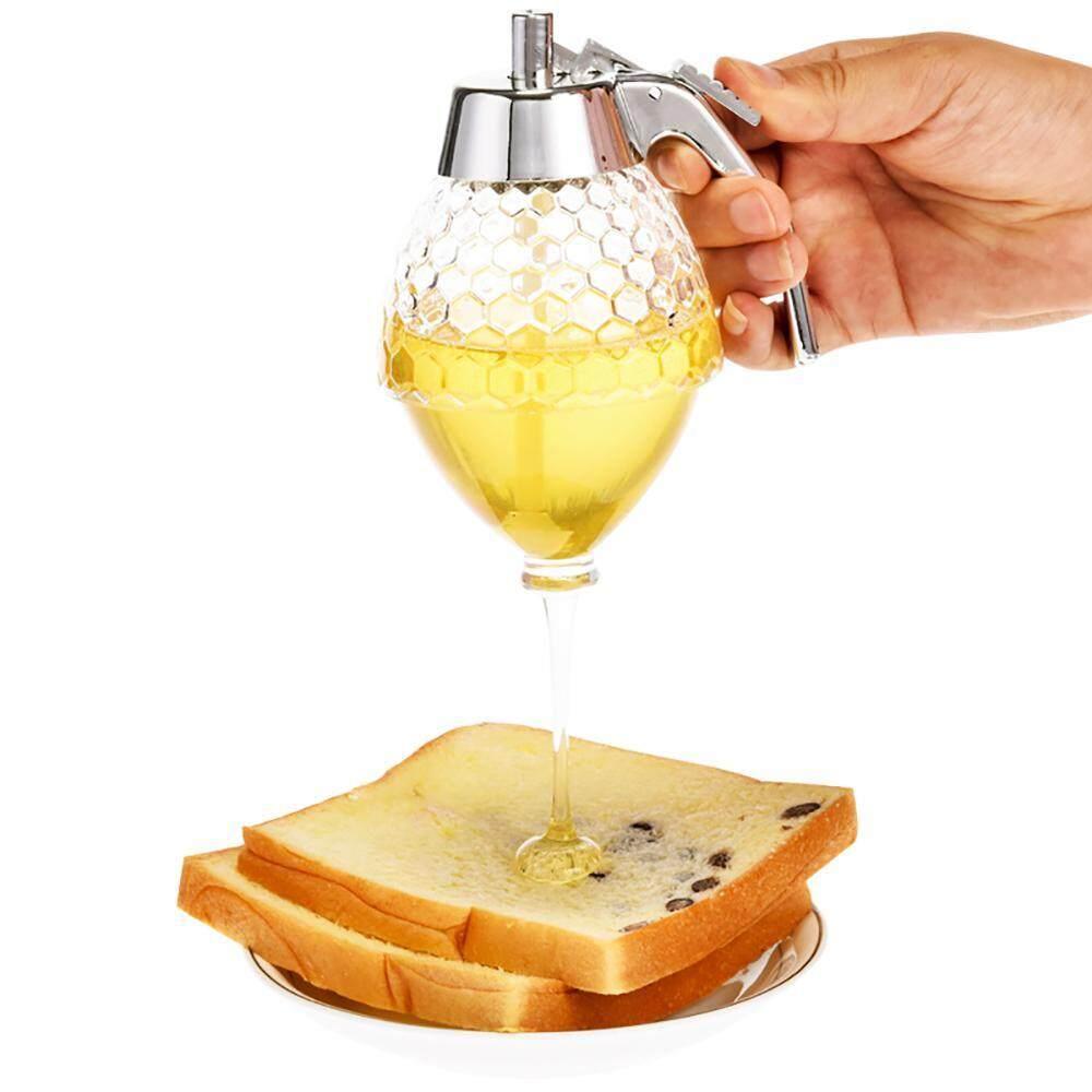 leegoal Syrup Dispenser, Shatter-Proof Honey Dispenser,Juice Squeeze Bottle Pot Sauce Bottle,Kids Friendly