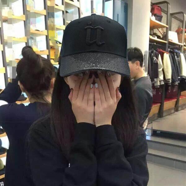 [Second half price] baseball cap 2018 spring and summer new hat men and women couple universal Korean version of the sun visor fall sun protection cap [SECURITE] black(Bright along U black)