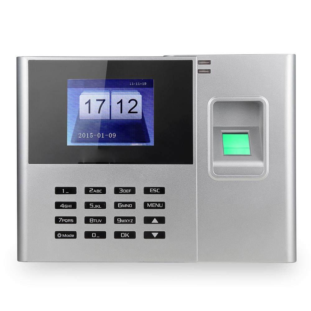 Biometric Fingerprint Password Attendance Machine Employee Checking-in Recorder 2.8 inch TFT LCD Screen DC 5V Time Attendance Clock - intl