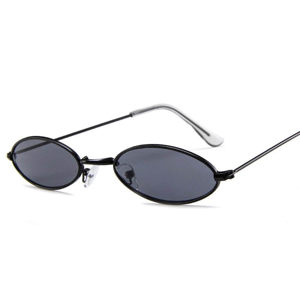 Qimiao Bergaya Ultra Kecil Ellipse Bingkai Kacamata Hitam Kacamata Mengemudi untuk Snap Jalan Hadiah Ulang Tahun