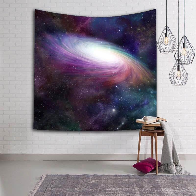 Starry Sky Tapestry Wall Hanging Decor Indian Home Hippie Bohemian Tapestries for Dorms Beach Towel Tablecloth Bedspread 203x150cm - intl