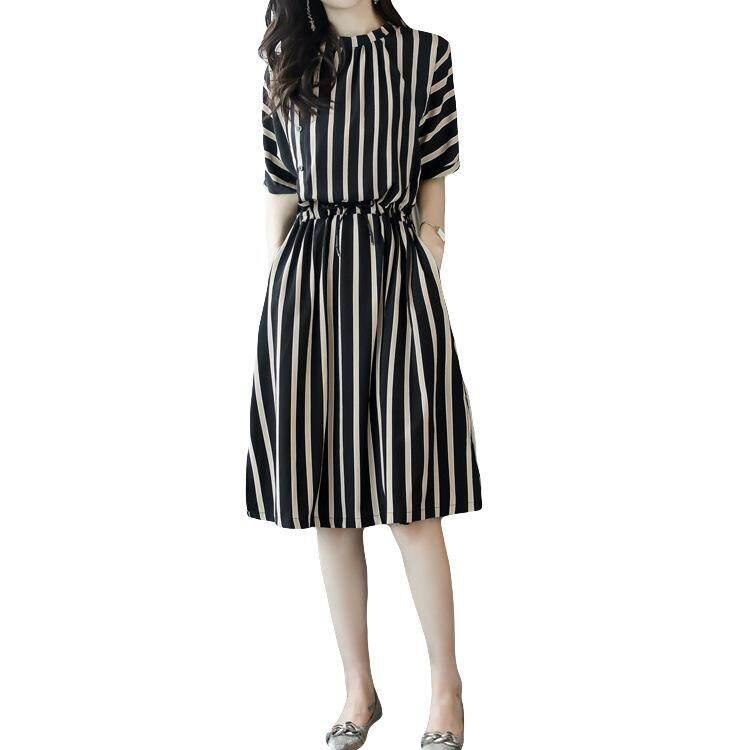 MM denim perempuan bagian panjang longgar rok gaun tali (Biru). Source · Pinggang